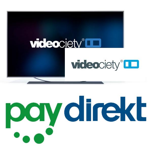 Videociety Online-Videothek: 10€ aufladen + 10€ Guthaben geschenkt mit Paydirekt