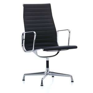 Vitra EA 116 Aluminium Chair Bürostuhl in Leder schwarz, der Büro-Klassiker von Eames [wohn-design.com]