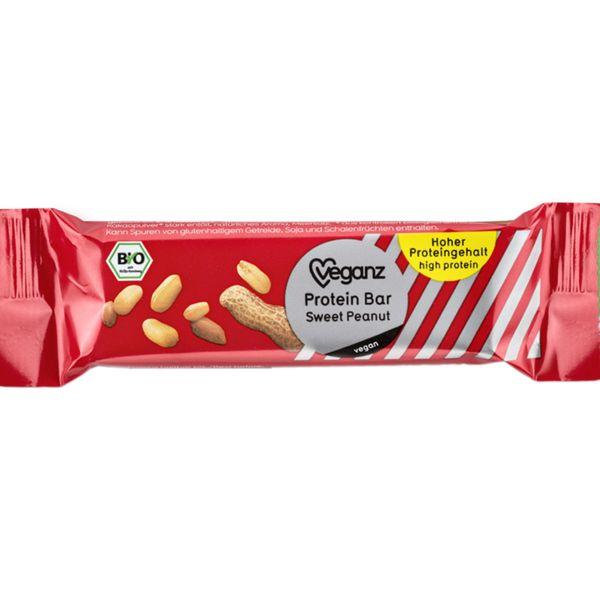 36 x Veganz Protein bar sweet peanut