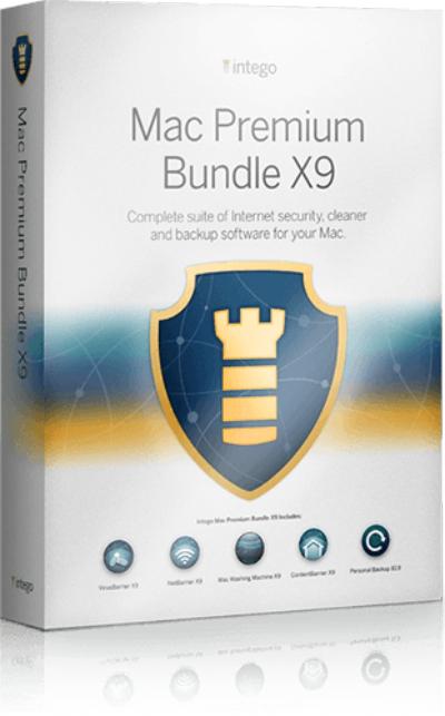 (MAC) Intego Mac Premium Bundle X9 mit 5 Sicherheit Apps - 50% RABATT