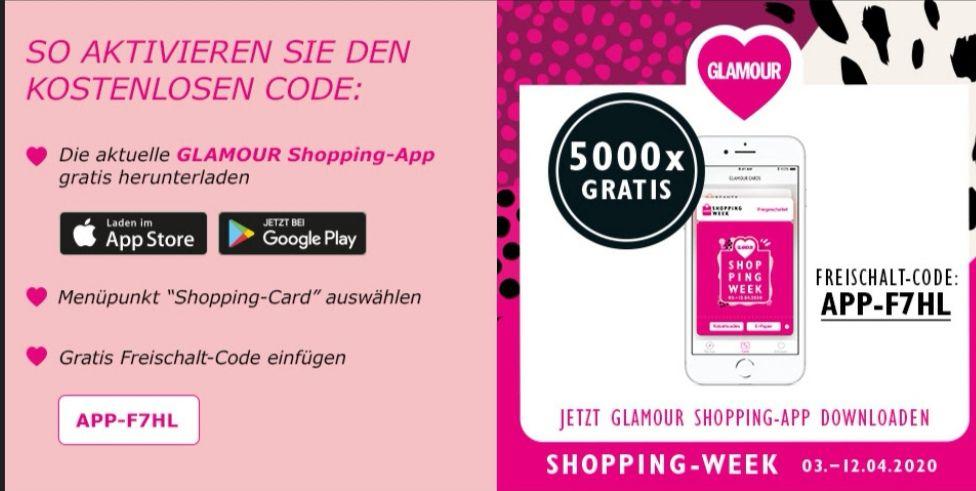 5.000 GLAMOUR-Shopping Cards gratis + aktuelle Ausgabe der GLAMOUR als E-Paper
