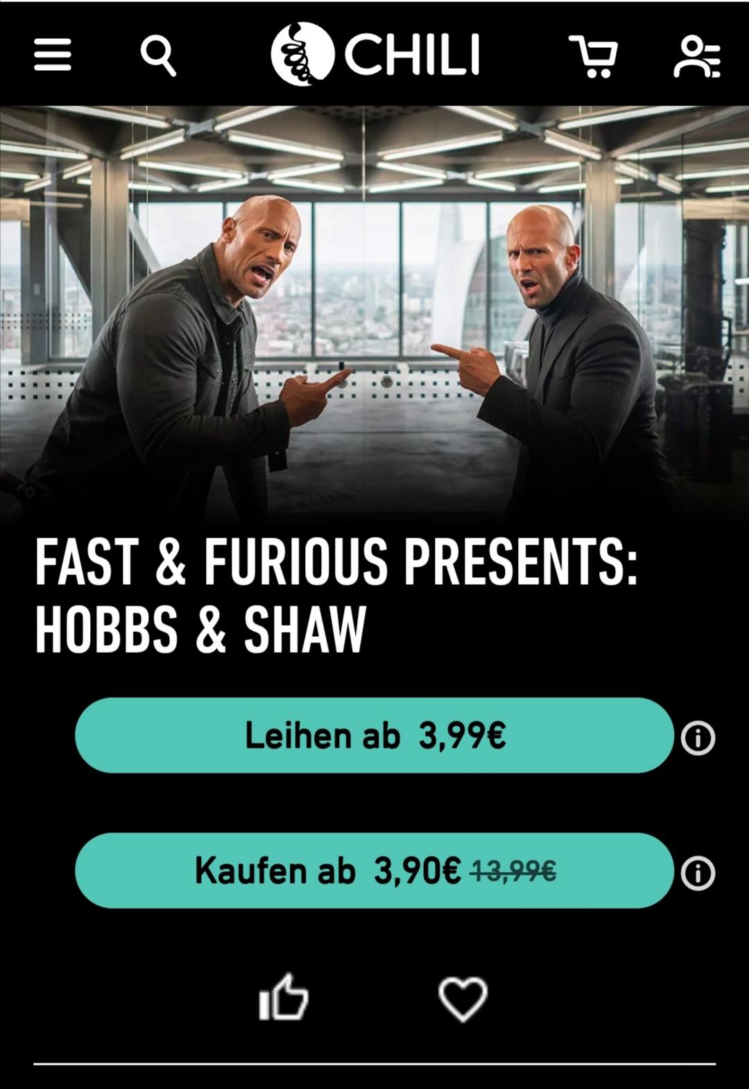 Fast & Furious : Hobbs & Shaw HD Kauf Stream