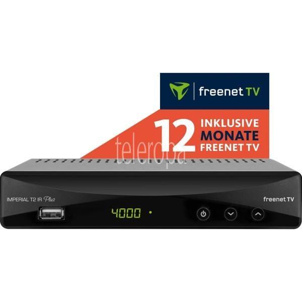 DVB-T2 HD Receiver IMPERIAL T2 IR Plus mit 12 Monate freenet TV und PVR Funktion