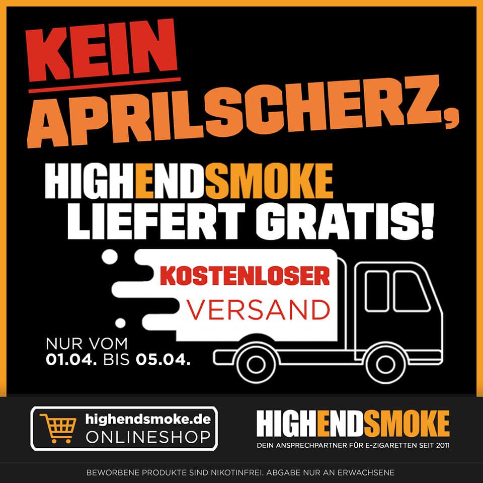 Highendsmoke.de - kostenfreier Versand ohne MBW und 5% Rabatt auf den Warenkorb (E-Zigaretten und Zubehör)