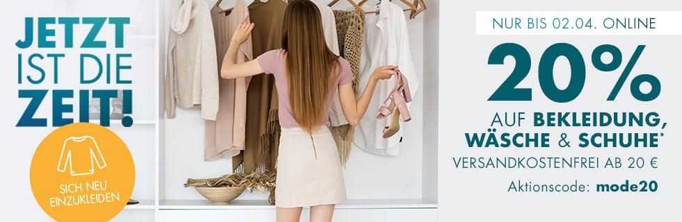Galeria: 20% auf Bekleidung & Schuhe
