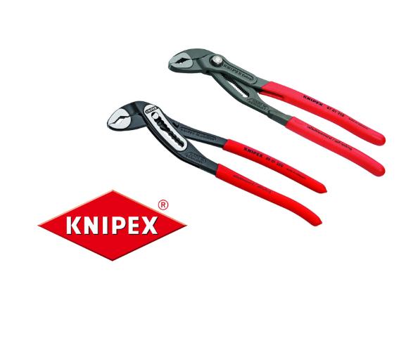 Knipex Wasserpumpenzange COBRA für 14,99€ / ALLIGATOR für 9,79€