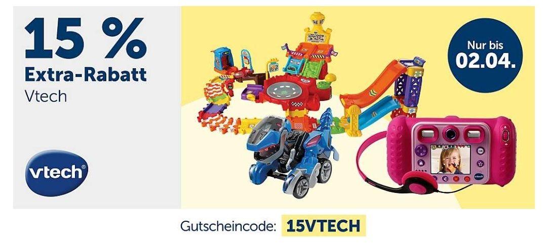 15% auf VTech Artikel bei myToys.de z.B. Tut Tut, Storio, Kidizoom