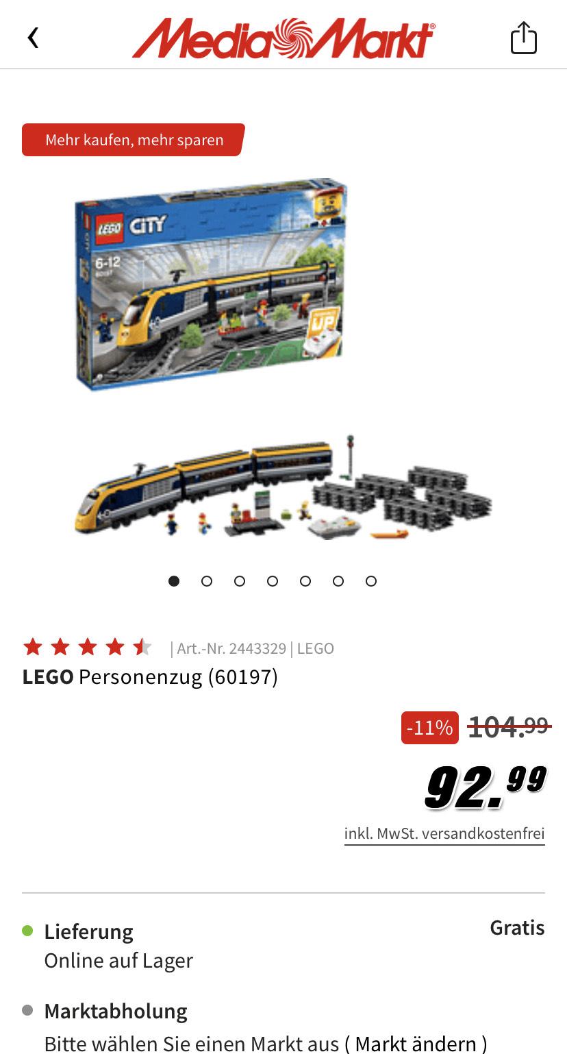 Lego 60197 Personenzug 81,99 durch Füllartikel möglich!