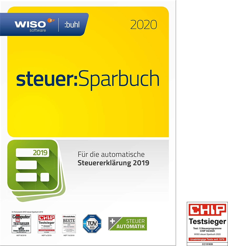WISO steuer:Sparbuch 2020 für 17,99€ o. WISO steuer:Mac 2020 für 18,74€ [Amazon Prime]