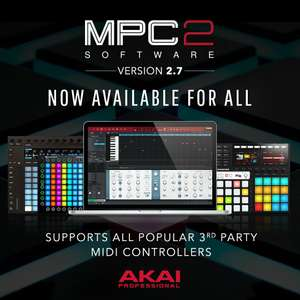 Akai MPC 2: Audio-MIDI-Sequenzer (128 Spuren, 8 Pad Bänke, Sampleeditor, Realtime Time-Strech / Pitch-Shifting)