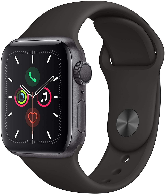 Apple Watch Series 5 (GPS, 40 mm) Aluminiumgehäuse Space Grau - Sportarmband Schwarz