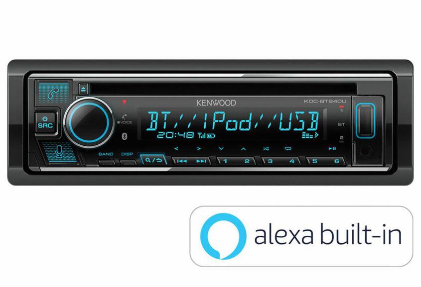 Kenwood KDC-BT640U 1-DIN Autoradio CD / Bluetooth / USB / Spotify / Android Smartphone / iPhone Steuerung / Amazon Alexa
