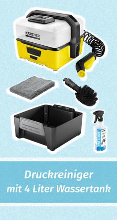 Kärcher OC 3 Mobile Outdoor Cleaner - Fahrradreiniger / Outdoor-Reiniger mit Akku