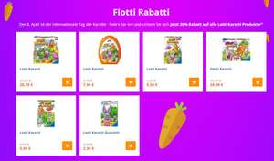 20% Rabatt auf alle Lotti-Karotti-Produkte