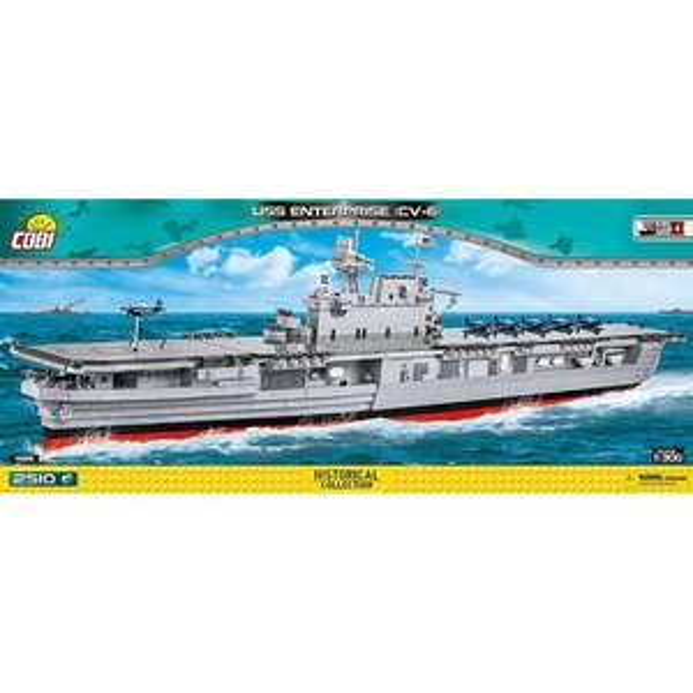 COBI USS Enterprise (CV-6) Schiff Klemmbausteine Bausatz 2510 Teile