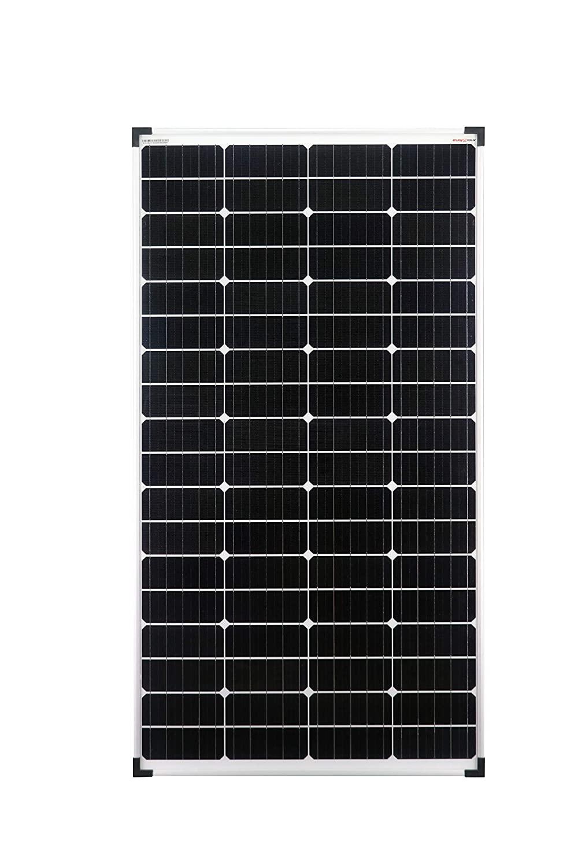 enjoysolar Monokristallin 140 Watt 12V Solarmodul Solarpanel | (+3% Plussortiert) | Grade A | für Wohnmobil, Gartenhäuse, Boot, Stromausfall