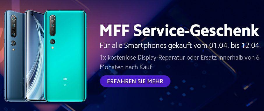 6 Monate kostenlose Display-Reparatur auf alle Xiaomi Produkte (Gekauft vom 1. - 12. April)