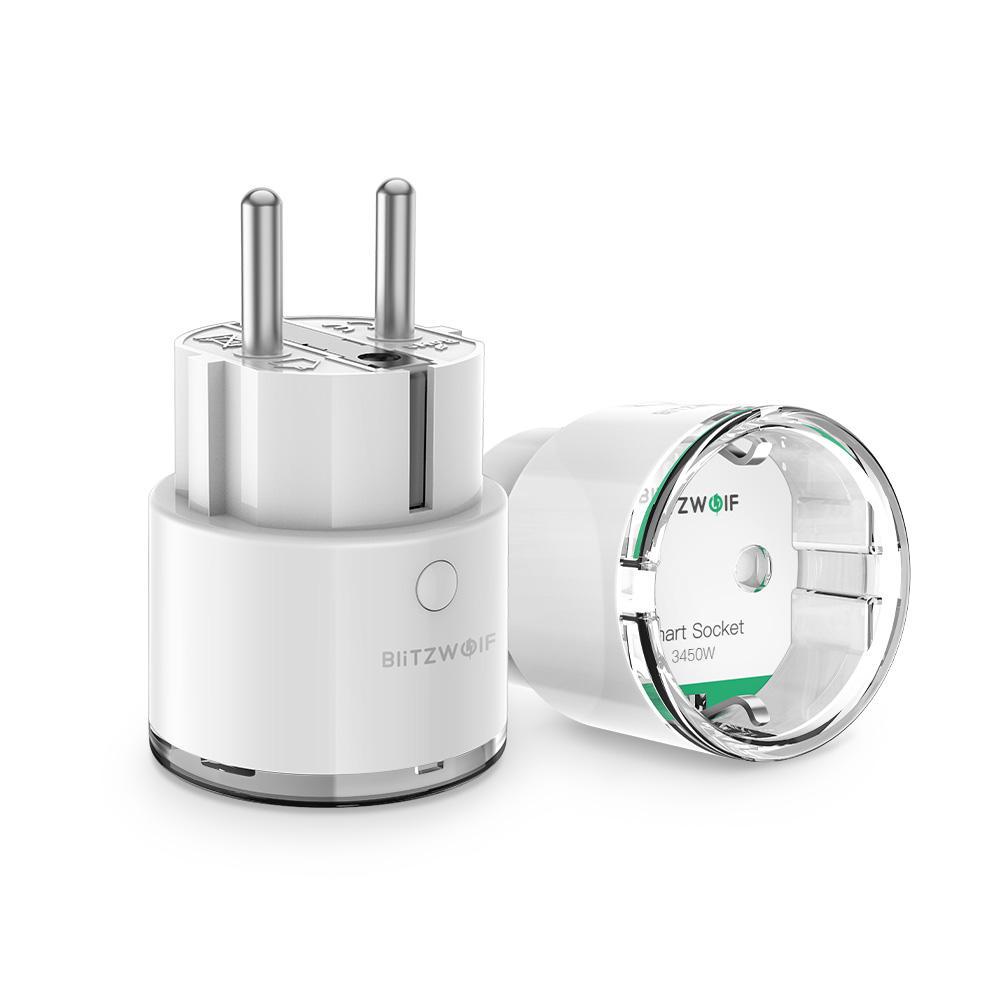 BlitzWolf® BW-SHP6 Pro 15A 3450W Metering Version WIFI Smart Socket EU Plug 220V-240V Alexa , Google - 15A