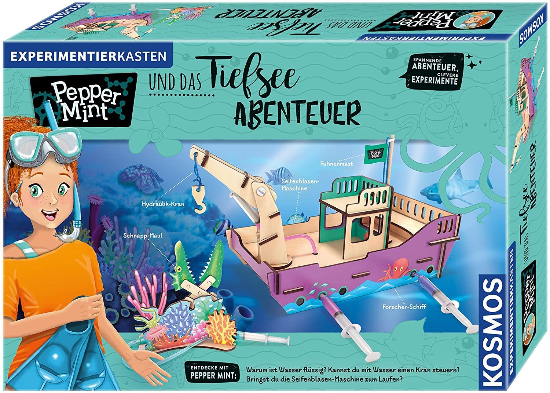 Kosmos - Pepper Mint und das Tiefsee-Abenteuer Experimentierkasten mit Hydraulik-Kran & Seifenblasenmaschine für 15€ (Amazon Prime & Saturn)