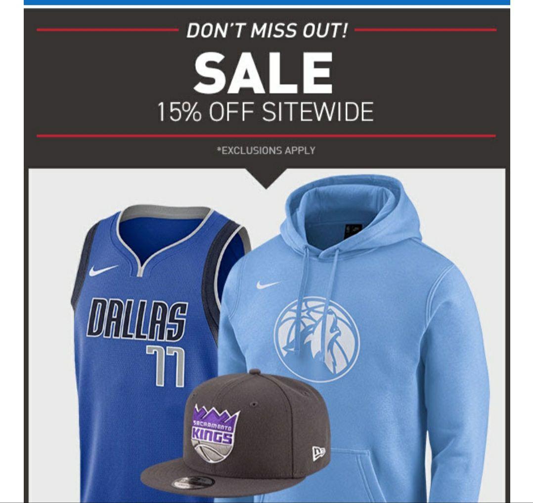 15% auf das gesamte Sortiment (einige Ausnahmen) des NBA Stores Europe/ mit Newsletter 10% Rabatt kombinierbar