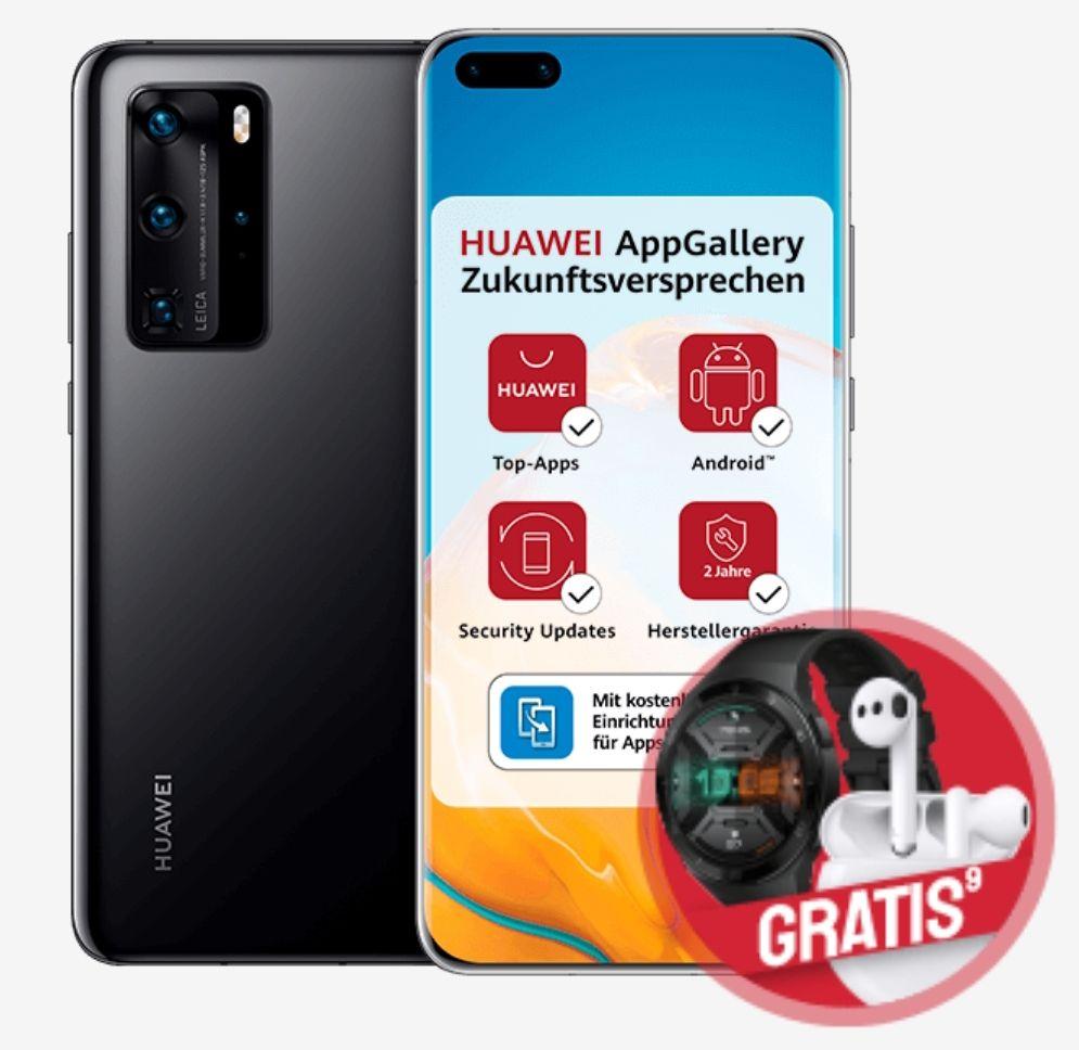 Huawei P40 Sammeldeal: 18GB Debitel Telekom mit Pro 928,75€ oder 10GB ohne Pro 838,75€ | O2 Free L 60GB LTE mit Kombivorteil Pro 808,75€