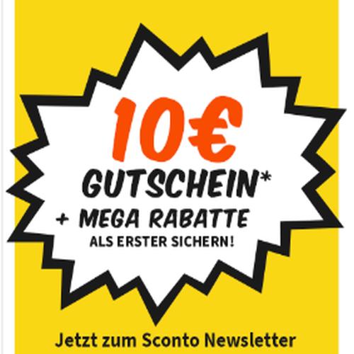 [SCONTO] 10€ Gutscheincode ab 100€ für Newsletter-Anmeldung