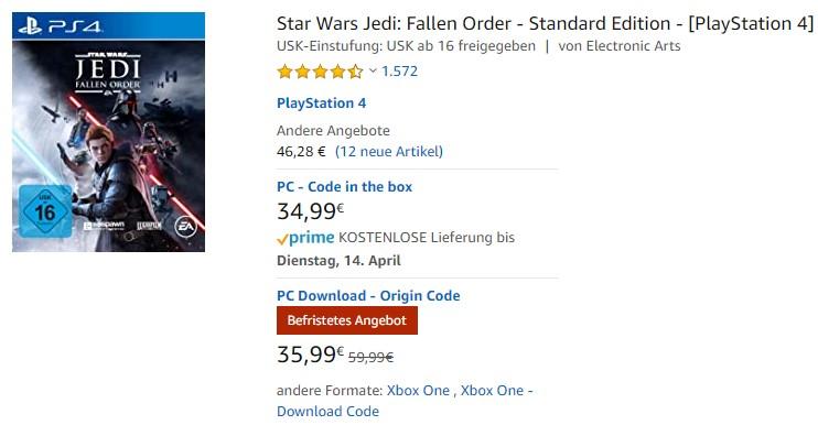[Digital] 40% auf Star Wars Jedi: Fallen Order!!