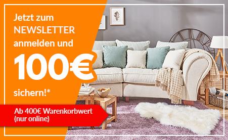 [Möbel Kraft] 100€ Newsletter Gutschein ab 400€ nur Online