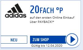 20fach Payback Punkte bei Adidas (auf ersten Einkauf + evtl. personalisiert)
