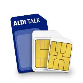 2 für 1: 2x Aldi Talk Starter Set (Prepaid) für 12,99€ mit je 10€ Startguthaben (Anhebung der Drosselgrenze auf 384 kBit/s bis Ende April)