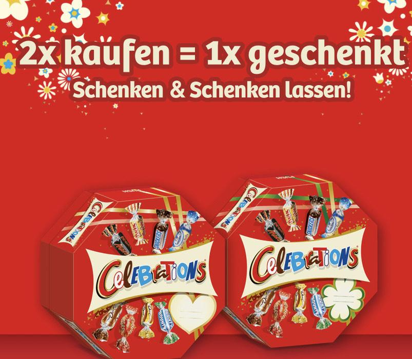 1 x Celebrations gratis beim Kauf von 2 Packungen (1+1 Aktion)