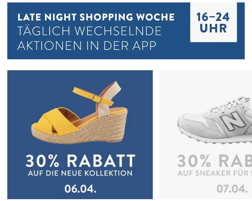 Late Night Shopping Week - 30% auf die neue Kollektion