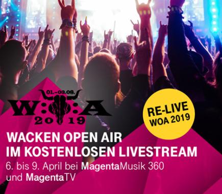 W.O.A. Wacken Open Air Re-Live Stream – jetzt gestartet (bis zum 9.4)