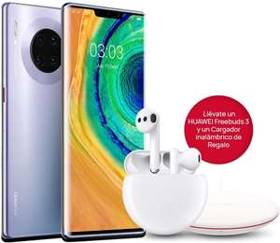 "Huawei Mate 30 Pro 6,53"" 8/256GB (Kirin 990, Curved OLED, Dual-Sim, Quad-Leica-Kamera, 4.500 mAh) inkl. Freebuds 3 & Qi-Ladegerät"