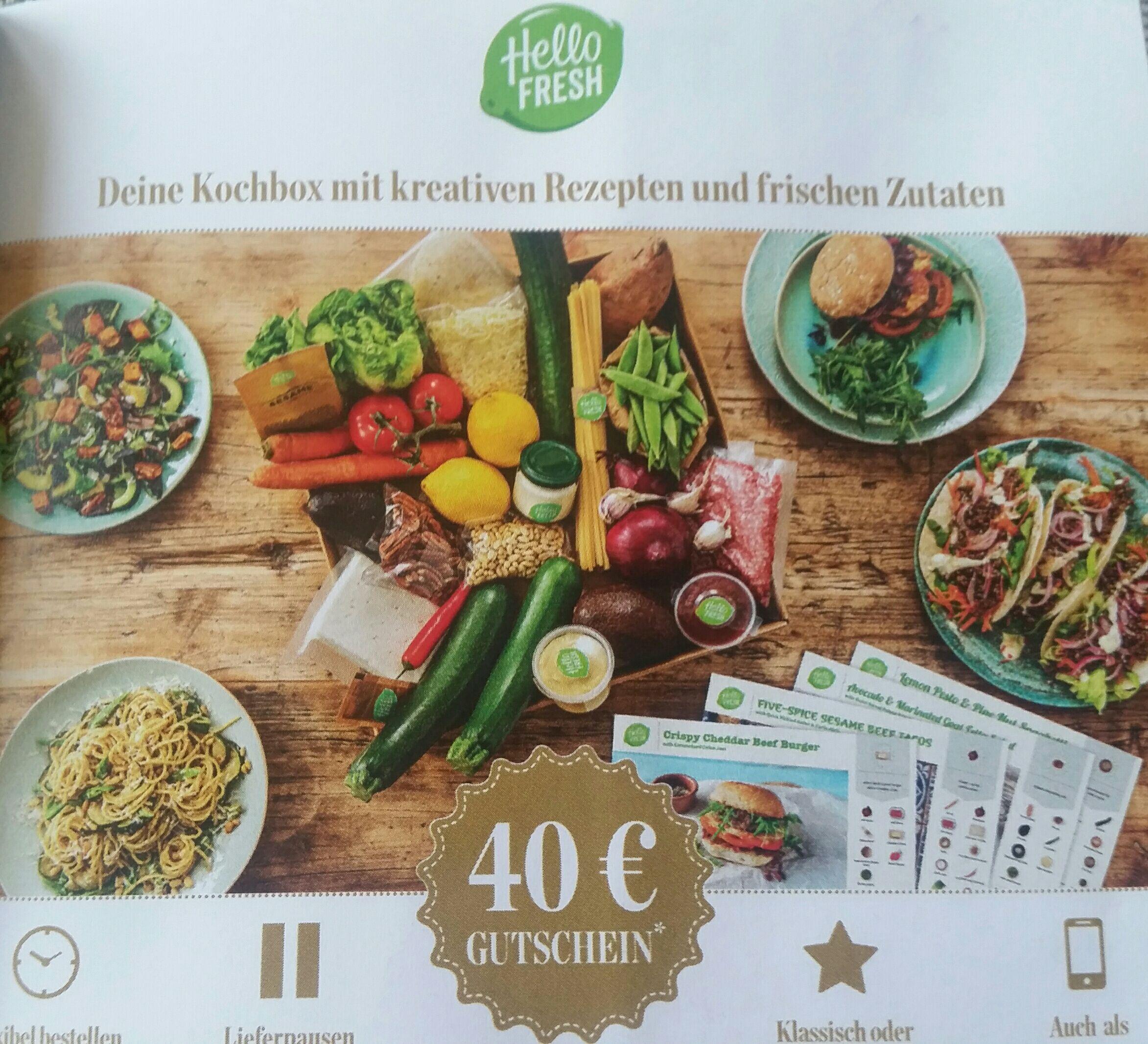 Hello Fresh 40€ Gutschein auf 4 Boxen(Neukunden)
