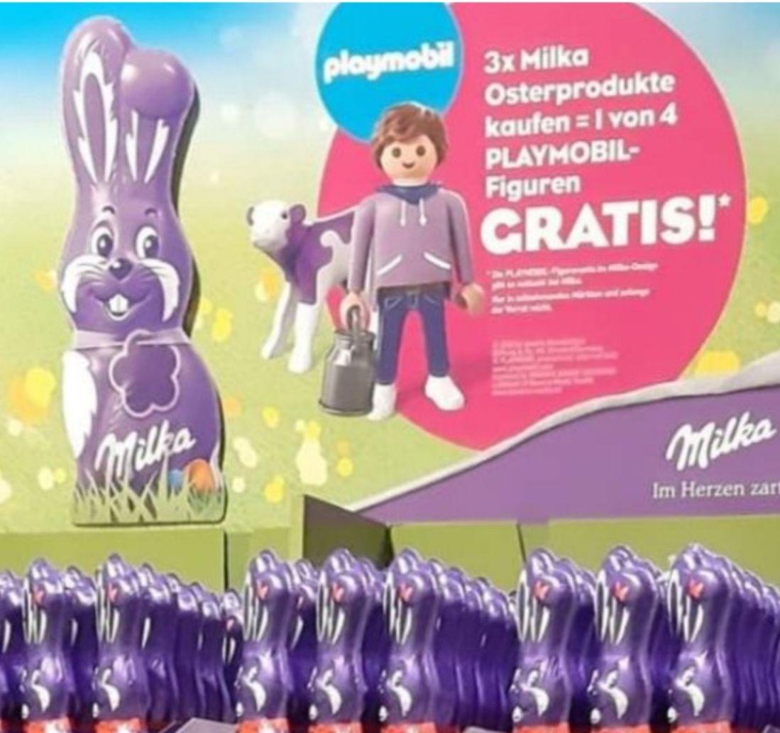 3 Osterprodukte kaufen und 1 Playmobilfigur gratis +20 % auf Oster-Milkaartikel bei Rewe