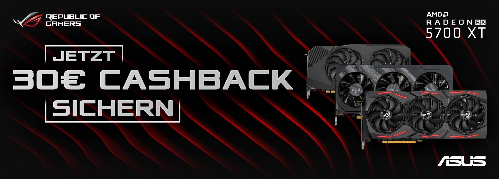 ASUS RX 5700/ RX 5700 XT Cashback Aktion