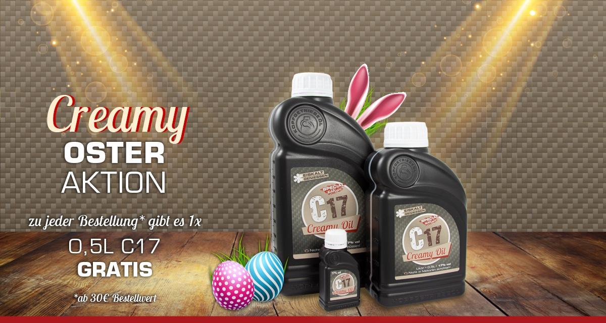 Oster-Aktion: GRATIS 0,5L Creamy Oil - ab 30€