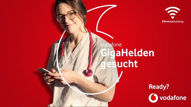Vodafone: 100 GB zusätzliches Datenvolumen für Mitarbeitende in systemrelevanten Berufen
