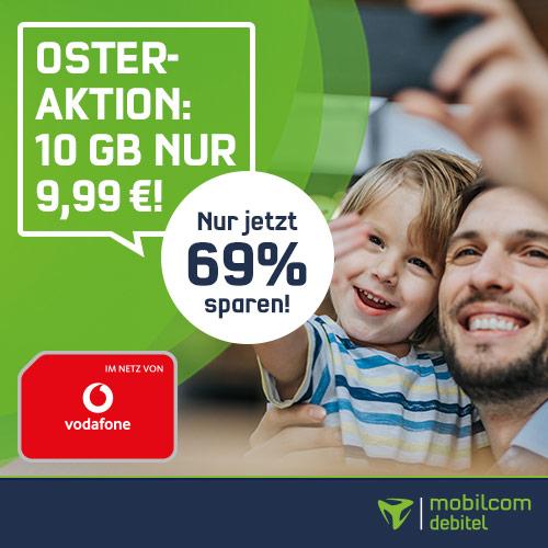 [Vodafone-Netz] mobilcom-debitel green LTE mit 10GB LTE (50 Mbit/s) und Allnet-Flat für 9,99€ / Monat