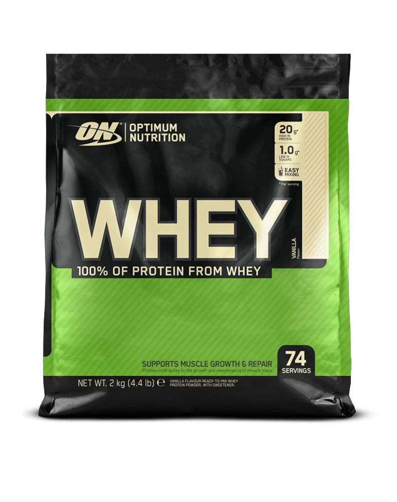 Optimum Nutrition Whey Protein 6Kg/3x2kg (8,05€/kg) Erdbeere + Freebie Calipper o. Pink Shaker (Shoop 7,5% = effektiv 45,40€ /7,56€ pro Kg)