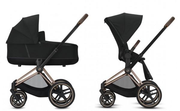 Luxus-Kinderwagen: CYBEX Platinum PRIAM inkl. Sitz und Lux Babywanne Nautical Blue Kollektion 2020
