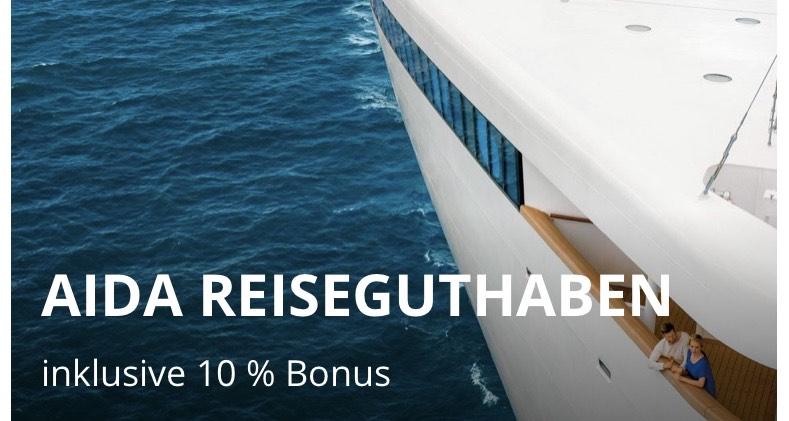 10% mehr Geld zurück bei Umbuchung für alle Aida Reisende vom 08.03 bis zum 31.05