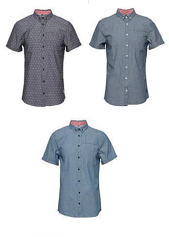 3x Blend Kurzarm-Hemd (100% Baumwolle, Slim Fit, Größe S - XXL) [booztlet.com]