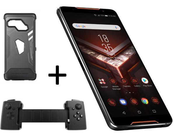 ASUS ROG Gaming Phone 128GB + ASUS Gamevice for ROG Phone (Gamepad)+ Original Asus ROG Case