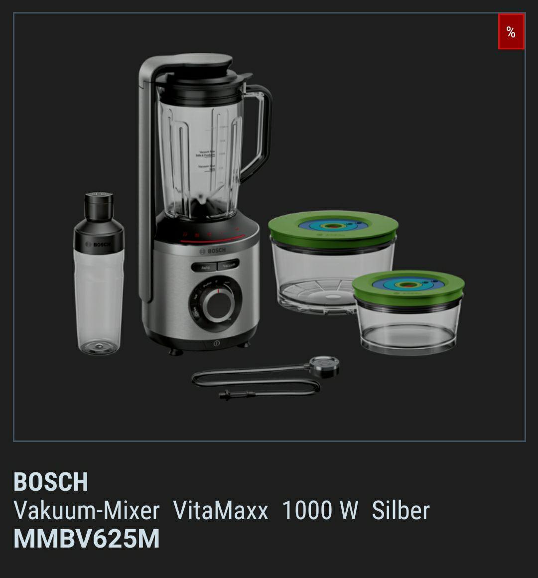 [FÜR UNS SHOP] BOSCH Vakuum-MixerVitaMaxx1000 WSilberMMBV625M