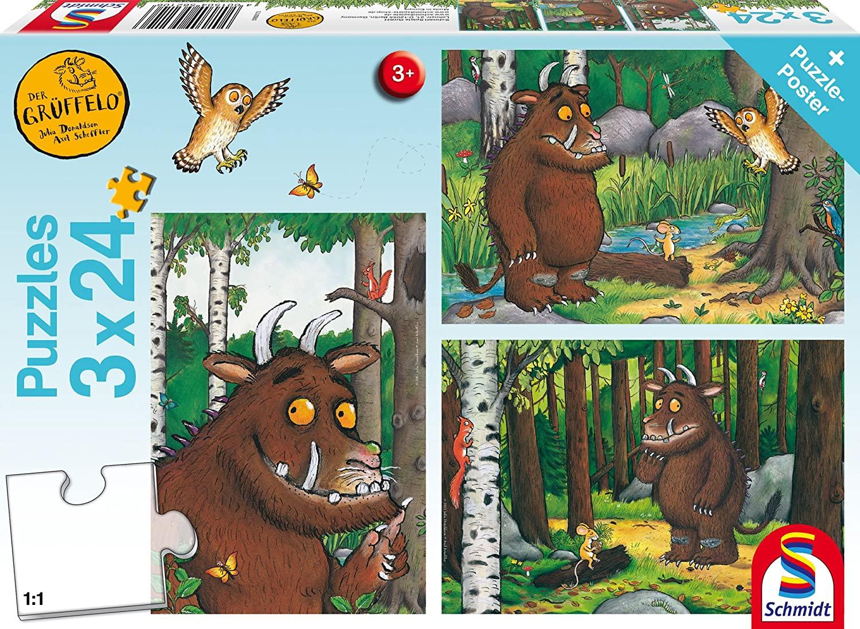 Schmidt Spiele The Gruffalo Mein Freund der Grüffelo, 3 x 24 Teile Kinderpuzzle für 4,24€ (Amazon Prime)