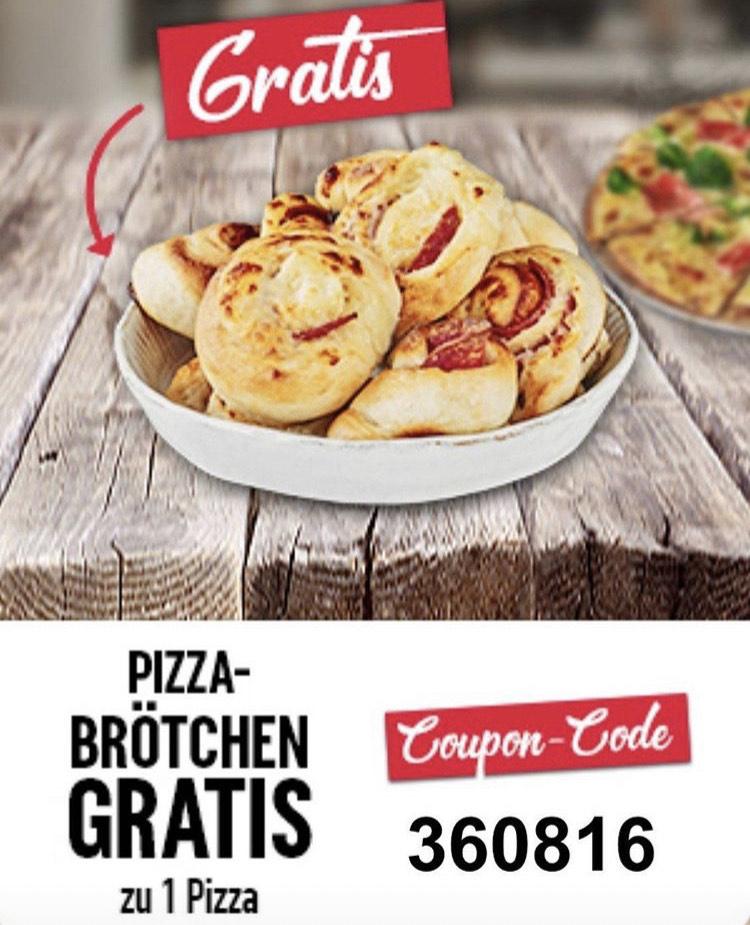 Domino's - Gratis Pizzabrötchen zu Pizza