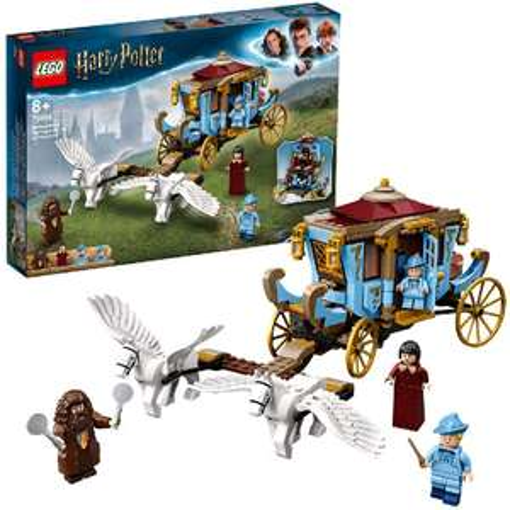 LEGO 75958 Harry Potter Beauxbatons Kutsche: Ankunft in Hogwarts Set mit 2 Pferdefiguren
