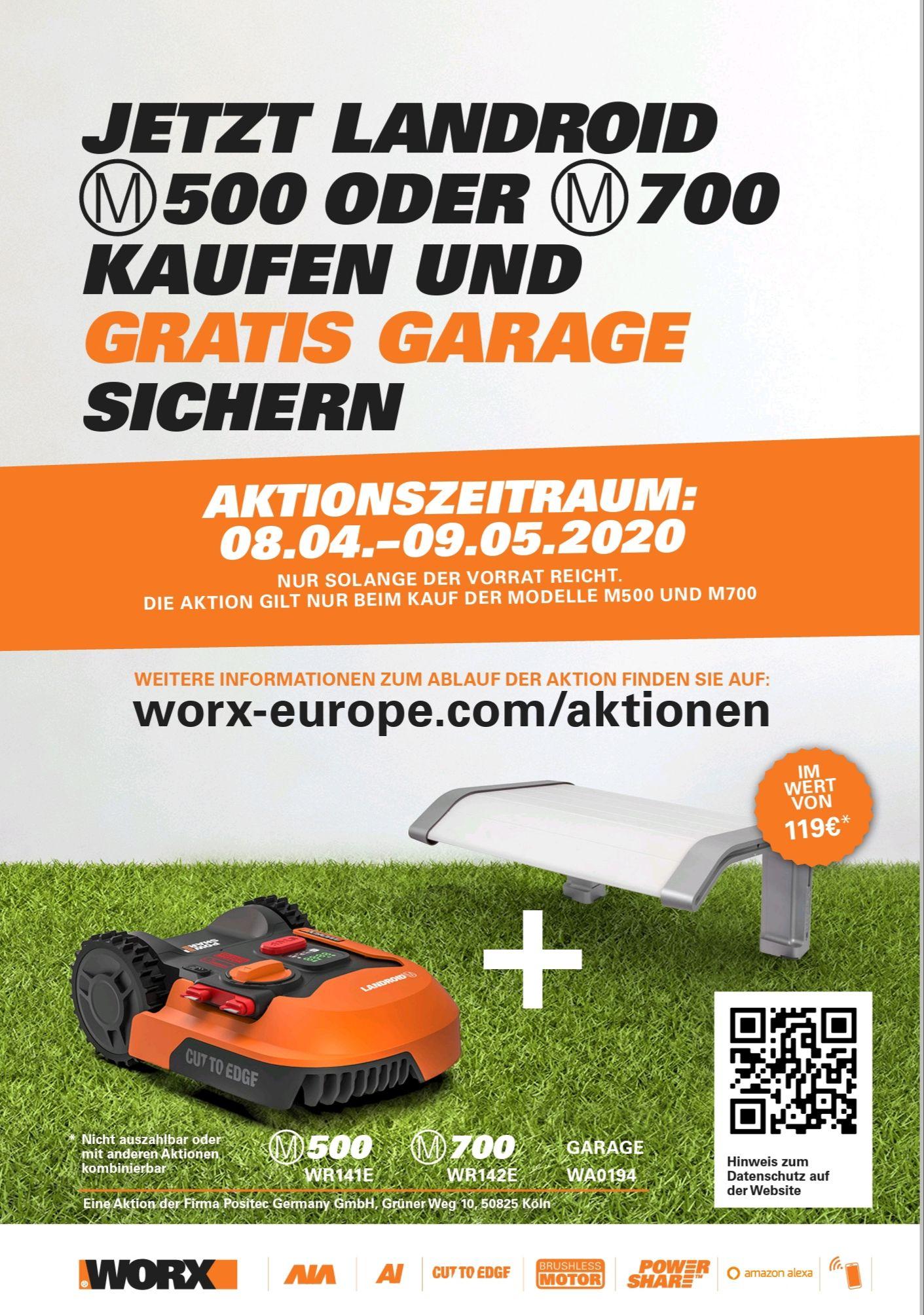 Worx Landroid M500, M700 inkl Garage